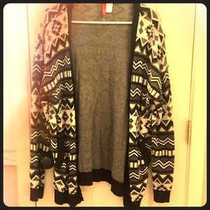 Black and White Divided Cardigan